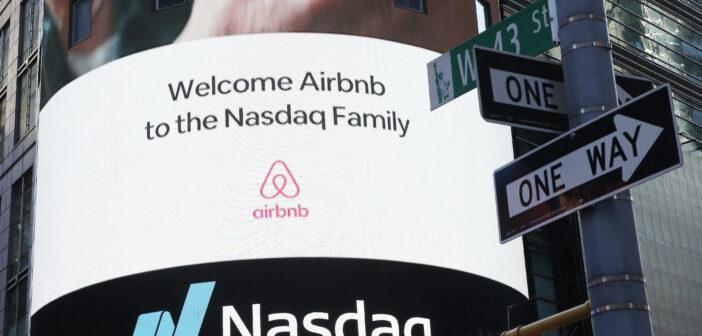 Onlineplattform Airbnb legt explosiven Börsenstart hin